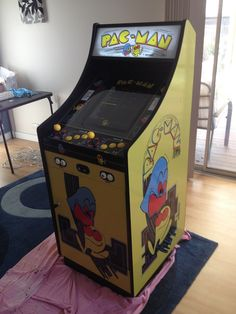 I completed my project! I posted a pic and a link to my project thread Diy Arcade Cabinet, Video Game Costumes, Sword Art Online Wallpaper, Video Game Rooms, Arcade Machine, 40th Anniversary, Business For Kids, Pallet Projects, Pinball