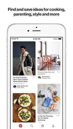Pinterest is the world's catalog of ideas. Find and save recipes, parenting hacks, style inspiration and other ideas to try!  #SocialNetwoking #Photos #ios #iosapps #Appstore
