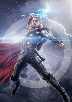 The god of thunder. Fan art made by me. Thor Wallpaper, Chris Hemsworth Thor, The Mighty Thor, Marvel Cinematic Universe, Marvel Avengers, Loki, Movies To Watch, Beast, Fan Art