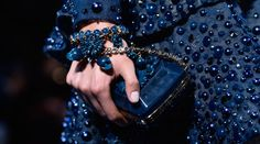 Last week, Elie Saab presented his fall-winter 2014 haute couture show in Paris. And now here is a look at some backstage images featuring closer details of not… Fashion Week Paris, Fashion Mag, Fashion Details, Runway Fashion, High Fashion, Fashion Outfits, Fashion Beauty, Malia Obama, Elie Saab Couture