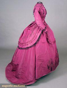 Circa 1869 day dress via Augusta Auctions.