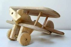 Download free plans to make this wooden toy biplane. Visit WoodworkingDownUnder.com for more information.