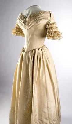 Wedding dress of Abigail Prather Churchill Clark, circa 1834.