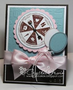 embossed Take a Spin card