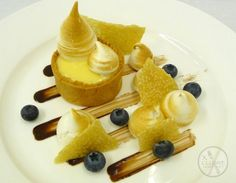 Lemon Tart, Meringue, Sesame Snap #catering #events #leicestershirefood #xclusive
