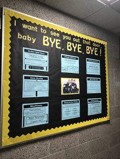 My closing bulletin board