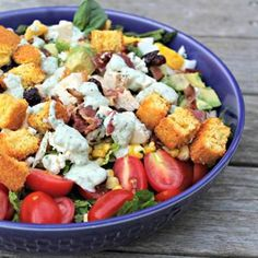 Summer Cobb Salad with Basil-Blue Cheese Dressing Recipe