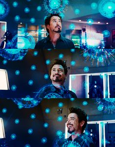 Tony Stark in his element. Literally.<==== Repining for the comment!! (and it's called Badassium if you were wondering. Seriously!)