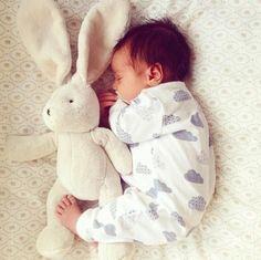 Baby boy portrait with stuffy