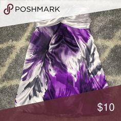 Water brush design dress Purple, silver, white, and black water brush strapless dress Dresses Strapless