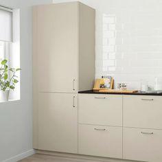 HAVSTORP Dörr, beige, 30x60 cm - IKEA Beige Kitchen, Ikea Kitchen, Kitchen Interior, Kitchen Design, Ikea Family, Ikea Cabinets, Keep It Cleaner, Cleaning Wipes, Tall Cabinet Storage