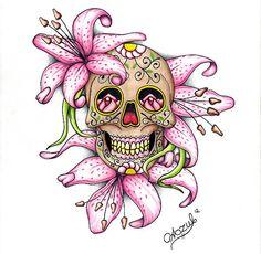 Sugar Skull by Azul80.deviantart.com on @deviantART