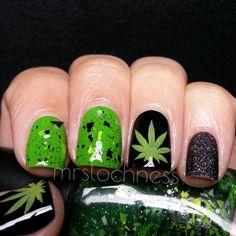 marijuana nail art » Nail Designs & Nail Art   Mix Nail Designs ...