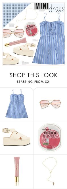 """""""daytime mini dress"""" by mycherryblossom ❤ liked on Polyvore featuring Alexander Wang and AERIN"""