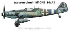 """So intrigued by late model Gustavs"" KB Bf109G-14AS"