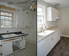 """We made over this galley kitchen for less than $4,000 in materials. Cape Cod Cottage Makeover in Richmond, Va  """"Before & After"""" #rva"""