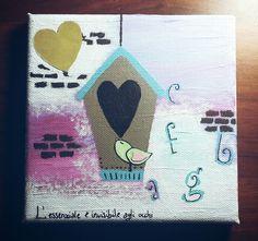 """""""L'Essenziale è invisibile agli occhi"""" #happyvalentine #cadeau #love #giadinart #homemade #idearegalo #illustration"""