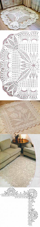 Los esquemas de los tapices pequeños hermosos cuadrados por el gancho | el Conforte y calor de mi casa