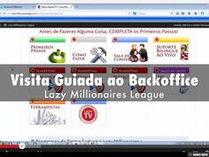 Visita Guiada ao Backoffice dos Lazy Millionaires League by Patricia e Helder Marques via slideshare