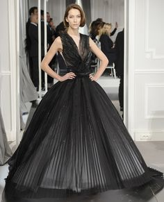 Christian Dior Couture Pleated Gown