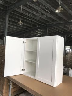 White Shaker Cabinets, Canning, Home, White Cupboards, Ad Home, Homes, Home Canning, House
