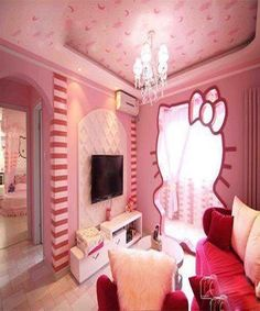 1000 images about hello kitty on pinterest hello kitty hello kitty rooms and plaza hotel for Chambre enfant fille hello kitty