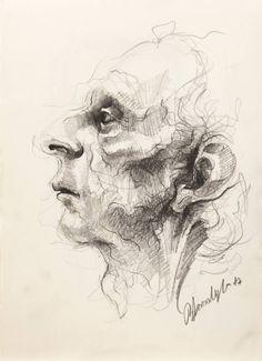 Saatchi Art: Pencil on Paper Drawing by Onur Karaalioglu Drawing Faces, Realistic Drawings, Love Drawings, Cartoon Drawings, Easy Drawings, Animal Drawings, Drawing Sketches, Pencil Drawings, Drawing Tips