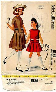 1960s #Vintage #Mccall'S Girls' #Dress #Sewing #Pattern 6135 Size 10 Helen Lee