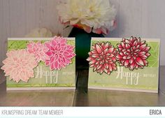 141 Likes, 6 Comments - Dahlia Flower, Flowers, Fun Cards, Card Designs, I Card, Stamps, Decorative Boxes, Happy Birthday, Lady