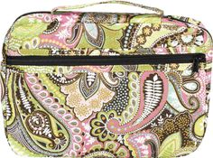"""[""""Keep your Bible safe and clean inside this quilted cloth Bible cover. Colored in a bright pink and green paisley pattern, this extra-large Bible cover features a zippered exterior pocket and a handy carrying handle along the spine. The cover zips closed to protect your Bible and the inside includes a pen loop and ribbon marker so you're always ready for your next Bible study. Product Details:<\/b>Fits Bibles up to 10-1\/4\""""(L) x 7-1\/4\""""(W) x 2\""""(D)""""] $19.99 Bright Pink, Pink And Green, Christian Clothing, Christian Apparel, Bible Covers, Paisley Pattern, Coin Purse, Wallet, Bags"""
