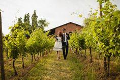 Vineyard romance, Italy. Image: Bohemian Weddings