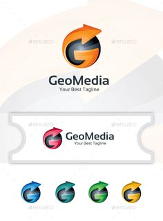 GeoMedia  Logo Template — Vector EPS #website #game • Available here → https://graphicriver.net/item/geomedia-logo-template/14805376?ref=pxcr