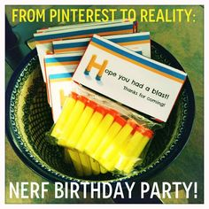 Check out our DIY Nerf Gun Birthday Party! Totally inspired by Pinterest and totally doable! Your kiddo will love it!