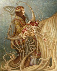 Unicorn Dream | Boris Indrikov 1969 | Russian Magical Realism painter | Tutt'Art@ | Pittura * Scultura * Poesia * Musica |