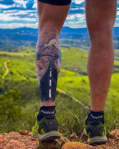 Bike Tattoos, Leg Tattoos, Tattoos For Guys, Sleeve Tattoos, Runners Legs, Runner Tattoo, Arrow Forearm Tattoo, Gorilla Tattoo, Adventure Tattoo
