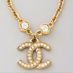 Coco chanel gold necklace