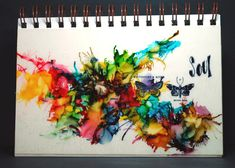 Eileen's Crafty Zone: Alcohol Inks on Acetate - Journal Page with Tim H...