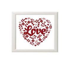 Love heart cross stitch pattern floral от AnimalsCrossStitch