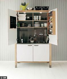 Keep the kitchenette as simple as possible.