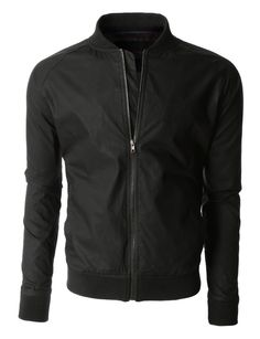 LE3NO Mens Lightweight Windbreaker Fully Lined Zip Up Bomber Jacket