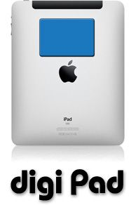 """The """"Digi Pad"""" is in the same family as the MicroClean cell phone screen cleaner, but made larger to accommodate iPads and other tablets. It's also large enough to clean the screens of laptops.  This item was developed as a promotional item because it can be custom printed with a logo and contact information or even a full color photo. More about Digi Pads here: http://www.jhstudios.com/?laptop_mouse_pads=large_sticky_screen_cleaners"""