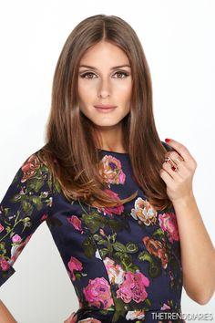 Olivia Palermo for 'Oscar de la Renta - straight and simple - natural looking color