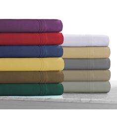 BEST BUDGET BED SHEETS. $35 King. Overstock. Super Soft Solid Extra Deep Pocket and Oversize Flat Microfiber Easy-Care Sheet Set