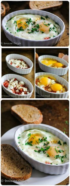 with Tomatoes and Feta Cheese Baked Eggs with Tomatoes and Feta Cheese. Elegant yet very easy breakfast that is ready in just 15 minutes.Baked Eggs with Tomatoes and Feta Cheese. Elegant yet very easy breakfast that is ready in just 15 minutes. Breakfast Dishes, Breakfast Time, Breakfast Casserole, Breakfast Potatoes, Breakfast Ideas With Eggs, Breakfast Egg Recipes, Tomato Breakfast, Healthy Egg Breakfast, Breakfast Quiche