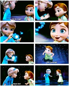 Elsa and Anna as kids❄️⛄️