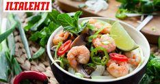 Nuudelisalaatti thaimaalaisittain Shrimp, Meat, Food, Essen, Meals, Yemek, Eten