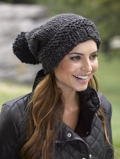 Pompoms Hat in Lion Brand Wool-Ease Thick & Quick - L32106C. Discover more Patterns by Lion Brand at LoveKnitting. The world's largest range of knitting supplies - we stock patterns, yarn, needles and books from all of your favorite brands.