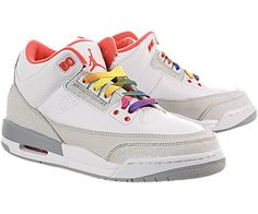 Air Jordan III (3) Retro (Kids) - Shop Air Jordan III (3) Retro Basketball Shoes Style:441140-101 Color:White / Crimson-Neutral Grey-Wolf Grey ($50-100) - Svpply Retro Basketball Shoes, Air Jordan Iii, Retro Kids, Shoes Style, Kids Shop, Air Jordans, Neutral, Fashion Shoes, Sneakers Nike