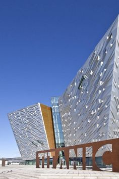 Titanic Belfast Museum, Belfast, Northern Ireland by CivicArts / Eric R Kuhne #architecture ☮k☮