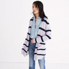 Madewell+-+Kent+Cardigan+Sweater+in+Stripe